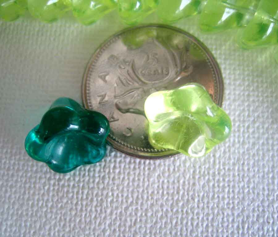 Large Bell Flower Beads 11 x 13mm one Strand - product images  of