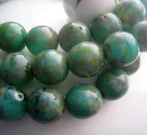 8mm,Green,Glass,Beads,with,Picasso,Finish,24,Supplies,Bead,czech_glass_beads,8mm_druk,green_picasso,picasso_beads,green_beads,mottled_green,bead_strand,8mm_green_beads,8mm_czech_beads,czech_beads_ontario,czech_beads_Canada,Czech_glass_Ontario,beads_in_Barrie,glass