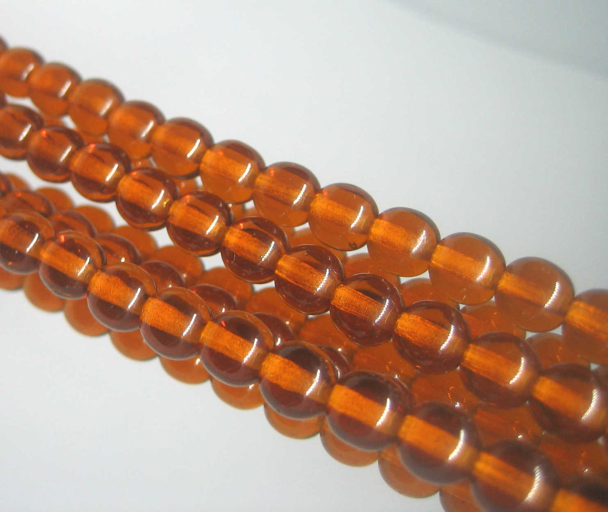 6mm Madeira Brown Czech Glass Round Beads 50 - product images  of