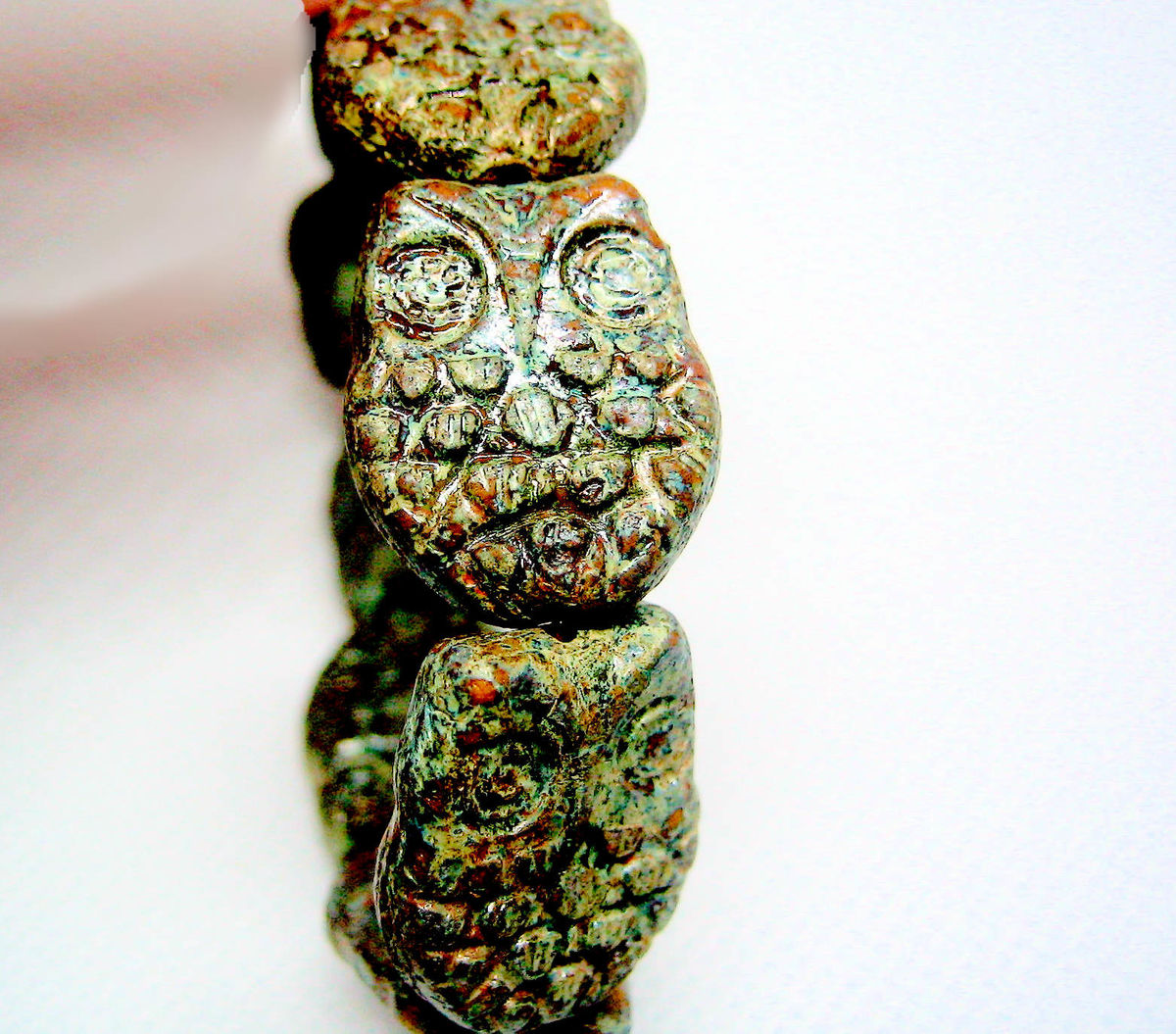 Chunky Czech Glass Owl Beads 10 - product images  of