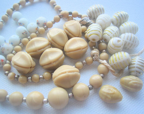 Neutral,Mix,Vintage,Glass,Beads,glass beads, glass bead mix, vintage glass beads, neutral tone beads, neutral colors, beige beads, tan beads, white beads