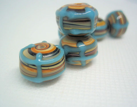 Brown,Swirl,Lampwork,Beads,8,brown swirl beads, brown glass beads, brown and blue beads, lamp work beads, lampwork beads, commercial lamp work, large beads