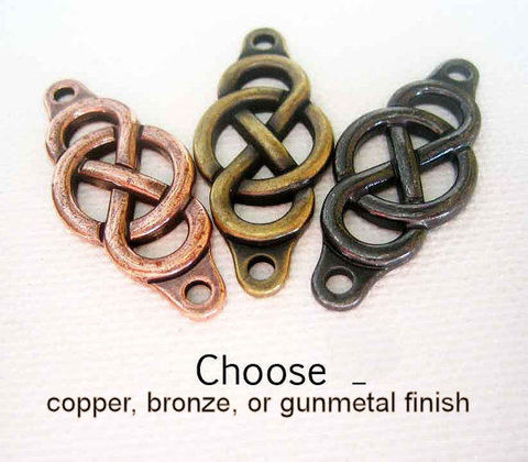 TierraCast,Celtic,Knot,Connector,Centre,5, Infinity knot, Celtic knot, large connector, metal bracelet parts, quality pewter, Celtic collection, Ships from Canada, Ships from Ontario