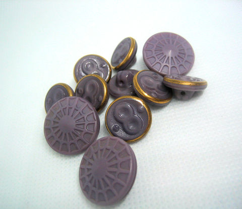 Vintage,Czech,Glass,Buttons,matte,purple,Spider,web,and,Figure,Eight,11,vintage glass buttons,purple glass buttons,number 8, figure 8, infinity symbol,czech glass buttons,vintage czech buttons,number 8 buttons,infinity symbol,infinity buttons,muted purple,mauve buttons,black buttons