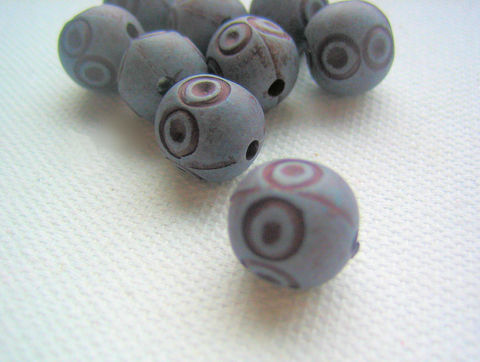 Blueberry,Beads,vintage,plastic,10,vintage beads, retro beads, vintage plastic beads, blueberry beads, dusky blue, purple blue, incised beads