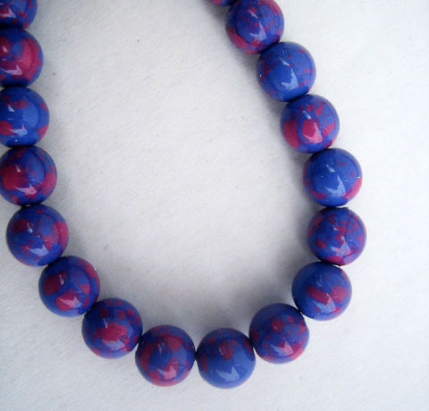 Vintage,Purple,Mottled,Beads,80,vintage beads,lucite beads,acrylic beads,plastic beads,beads Japan,8mm beads,blue beads,purple beads,mottled beads