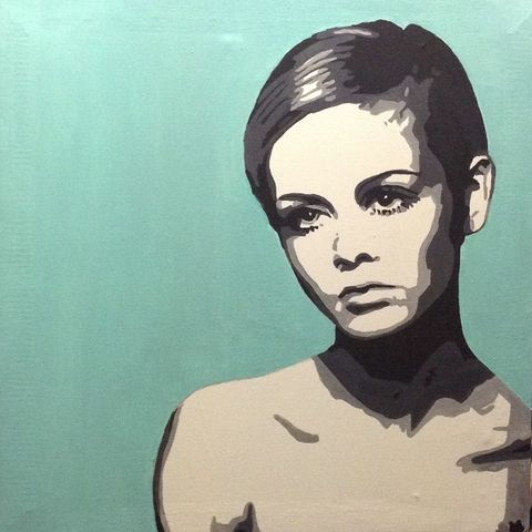 Twiggy,pop art, icon, twiggy, painting, original, signed, artwork.