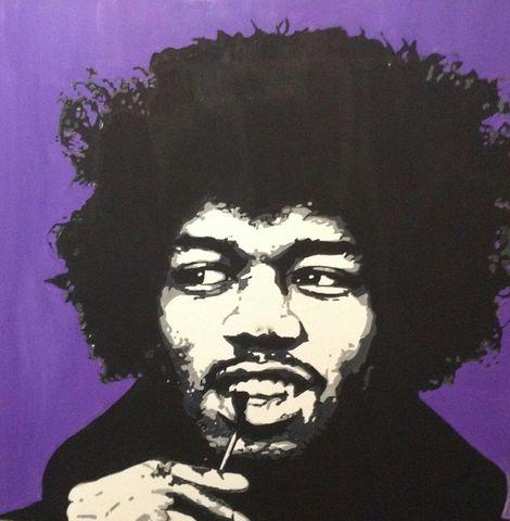 Jimi,Hendrix,pop art, icon, jimi, hendrix, painting, original, signed, artwork.