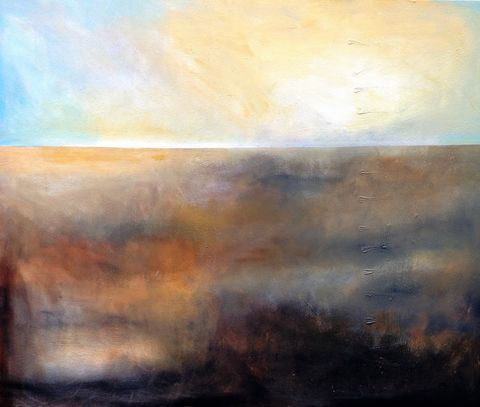 Misty,Morning,II, painting, art, original, abstract, signed, expressive, emotive, evocative, landscape, for sale, interiors, interior design, decor, statement piece, architects, art collectors, artdealers, unique, sought after, contemporary art, complimentary tone