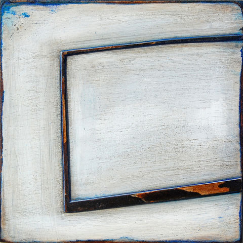 Still,here,II,acrylic,card, plaster,white,blue