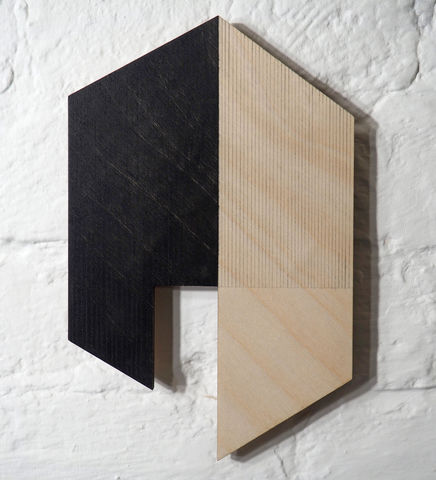 utopian,7,-,black,plywood,lasercut,house,building,architecture,wall sculpture, painting, geometric, sculptural paintings