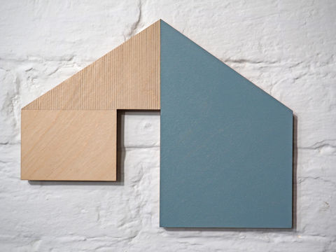 utopian,5,-,blue,plywood,lasercut,house,building,architecture,wall sculpture, painting