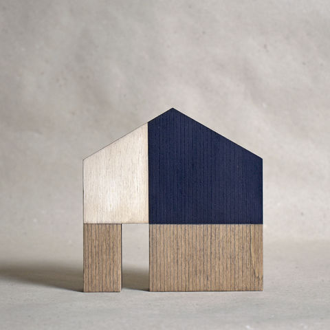 House,-,pale/dark,no.18,sculpture, lasercut, plywood, house, architecture, miniature, gilding, , wood, barn, scandinavian