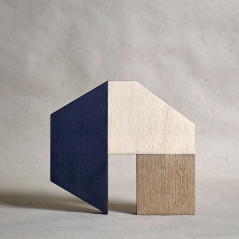 House,-,pale/dark,no.19,sculpture, lasercut, plywood, house, architecture, miniature, gilding, , wood, barn, scandinavian