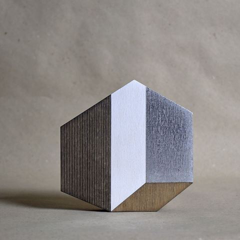 Abstract,House,-,dark/silver,no.26,sculpture, lasercut, plywood, house, architecture, miniature, wood, white, silver, abstract, contemporary, scandal