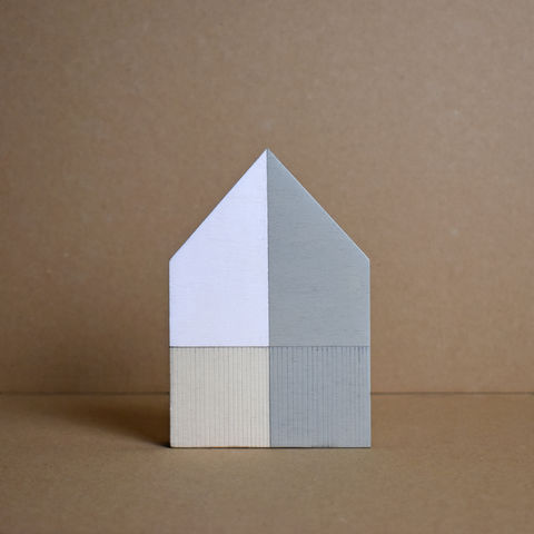 House,-,sage,no.36,sculpture, lasercut, plywood, house, architecture, miniature, green, grey, wood