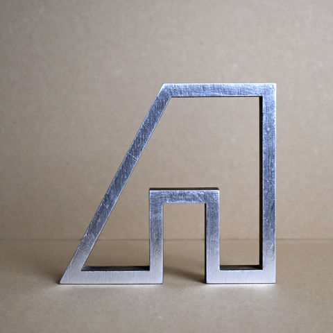 Silver,Abstract,House,8,-,outline,sculpture, lasercut, plywood, house, architecture, miniature, silver