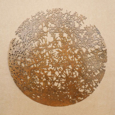 Above,Us,The,Trees,II,tree, sculpture, foliage, nature, organic, laser-cut, metal, wall sculpture, leaves, movement