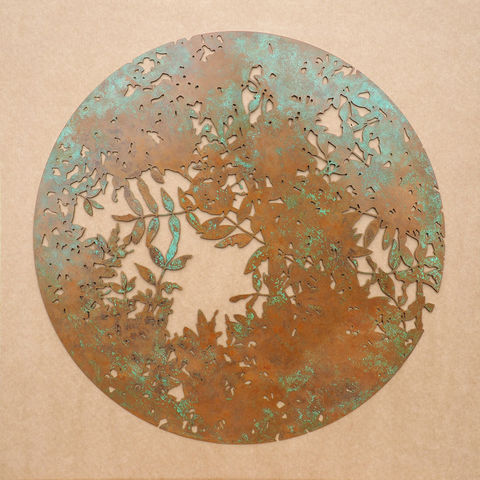 Ash,tree, sculpture, foliage, nature, organic, laser-cut, metal, wall sculpture, leaves, movement