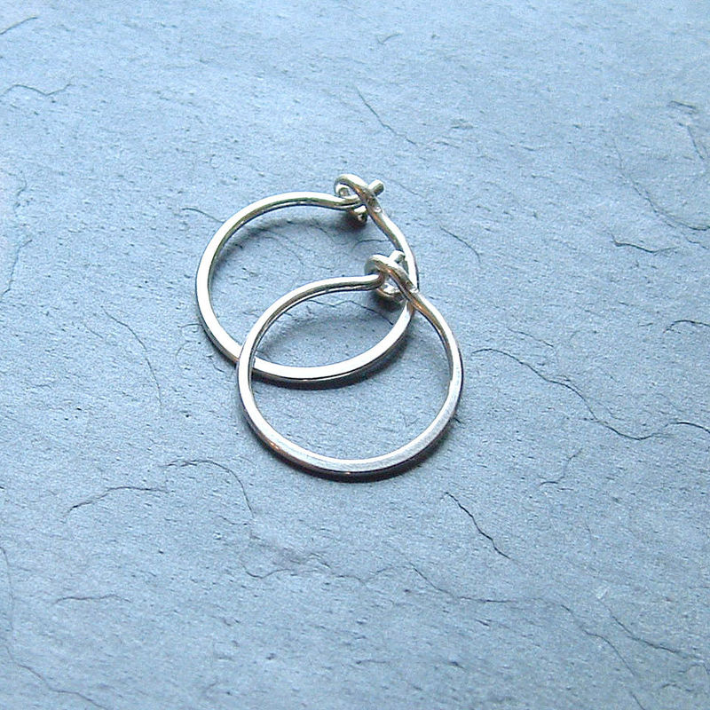 small hooped earrings small sterling silver hoop earrings handmade silver hoops 7030