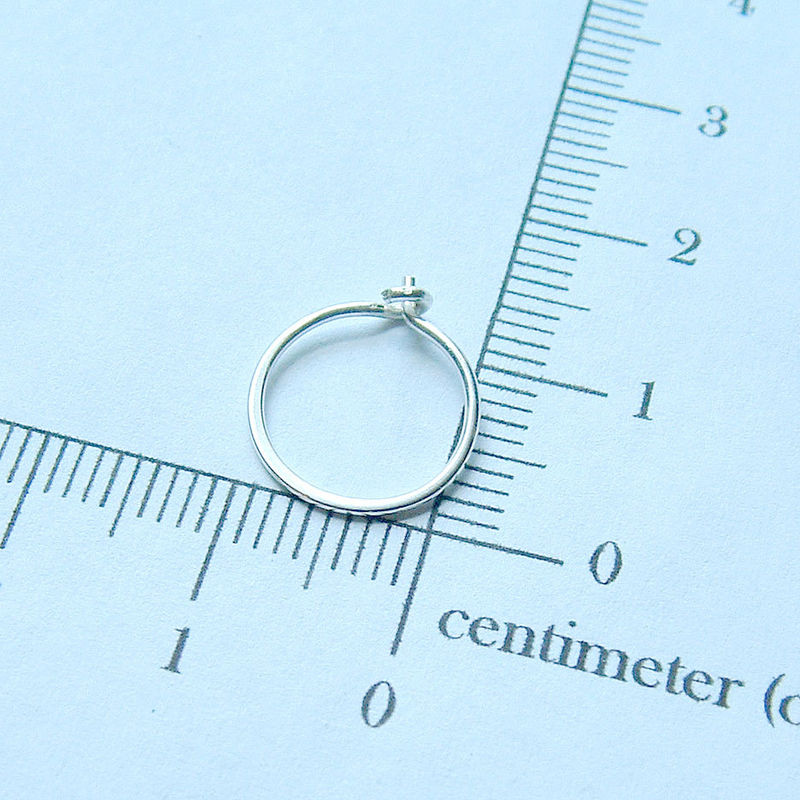 Small Sterling Silver Hoop Earrings Handmade Silver Hoops, eco friendly jewelry - product images  of