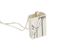 Pendant-,Telegraph,wire,Pendant,Telegraph wire pendant, etched silver, oxidised silver, sterling silver, handmade jewellery, contemporary