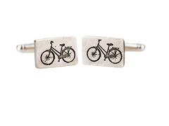 cufflinks-Bike,cufflinks,Bike cufflinks, vintage bicycle cufflinks, sterling silver, etched, oxidised, contemporary, handmade jewellery