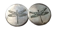 dragonfly,studs,silver earrings, etched, dragonfly, studs, animal, imagery, narrative, jewlry