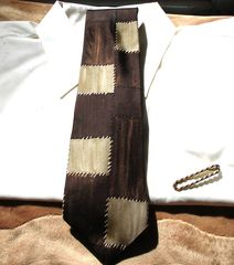 Mens,Perry,Ellis,Portfolio,Shades,Of,Brown,Patchwork,All,Silk,Tie,mens tie, Perry Ellis mens tie, Perry Ellis Portfolio tie, brown tie, designer tie, patchwork tie, mens accessory, mens designer accessory, Italian silk tie, made in USA tie