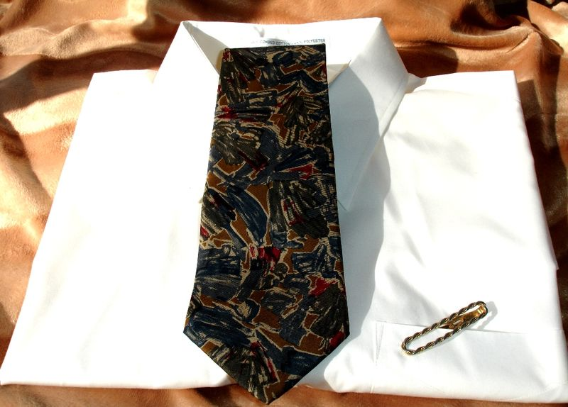 Jos. A. Bank Collection Vintage Mens Tie In Red Blue Gray And Gold - product images  of