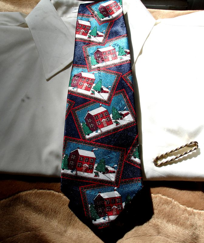 Men's Christmas Tie By Yule Tide Greetings Hallmark Cards - product images  of
