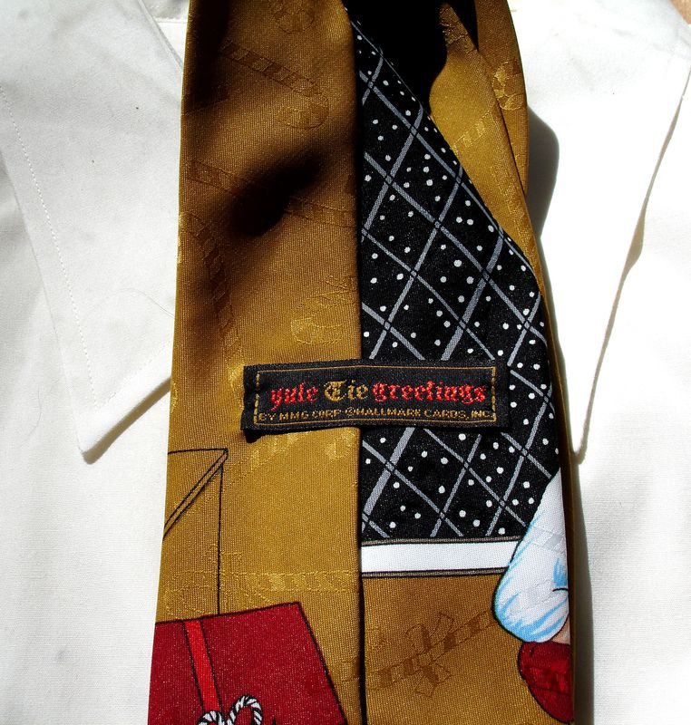 Christmas Tie With Santa Checking His List Twice By Yule TieGreetings - product images  of