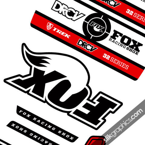 Fox,32,Trek,DRCV,Style,Decal,Kit,Fox 32, Trek, Float, DRCV, forks, fork decals, decals, stickers