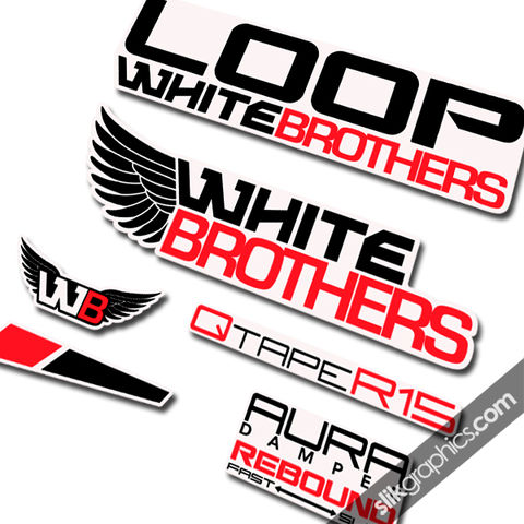 White,Brothers,Loop,Style,Decals,-,Forks,White Brothers, Loop, white, forks, decals, stickers