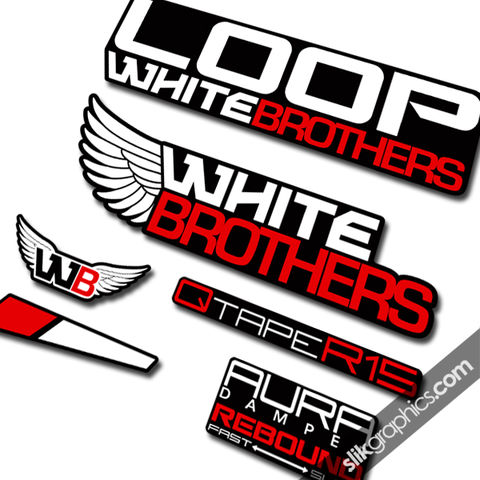 White,Brothers,Loop,Style,Decals,-,Black,Forks,White Brothers, Loop, black, forks, decals, stickers