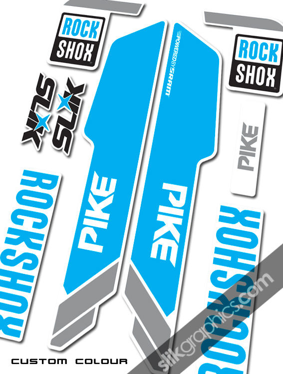 RockShox PIKE 2013 Style Decals - White Forks - product images  of