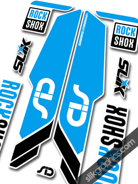 RockShox SID 2013 Style Decals - White Forks - product images  of