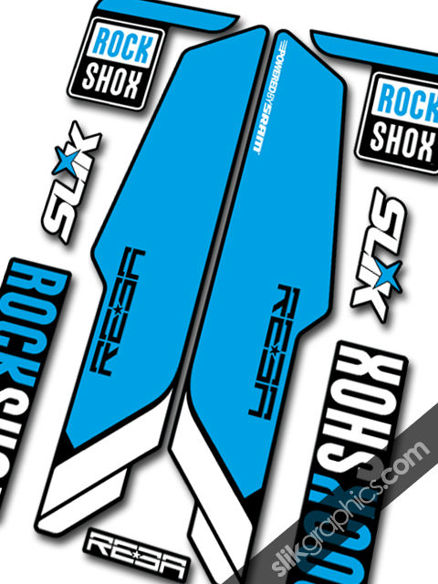RockShox REBA 2013 Style Decals - Black Forks - product images  of