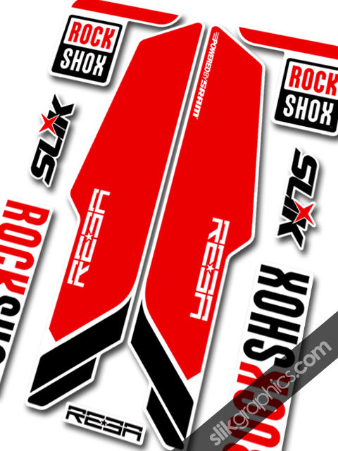 Rockshox REBA 2013 Style Decals - White Forks - product images  of