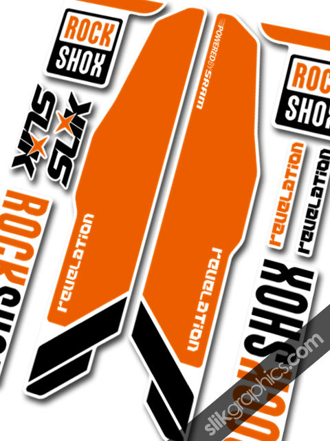 RockShox Revelation 2013 Style Decals - White Forks - product images  of