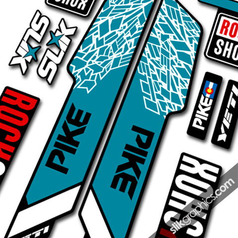 RockShox,PIKE,2013,Style,Decals,-,Yeti,Edition,for,black,forks,Rockshox, PIKE, 2013, 2014, forks, decals, stickers, Yeti