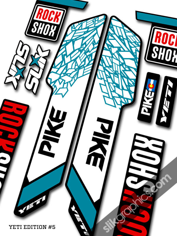 RockShox PIKE 2013 Style Decals - Yeti Edition for black forks - product images  of