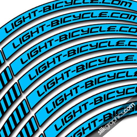 Light-Bicycle,35mm,650b,Style,Decal,Kit, rim decals, rim stickers, 650b