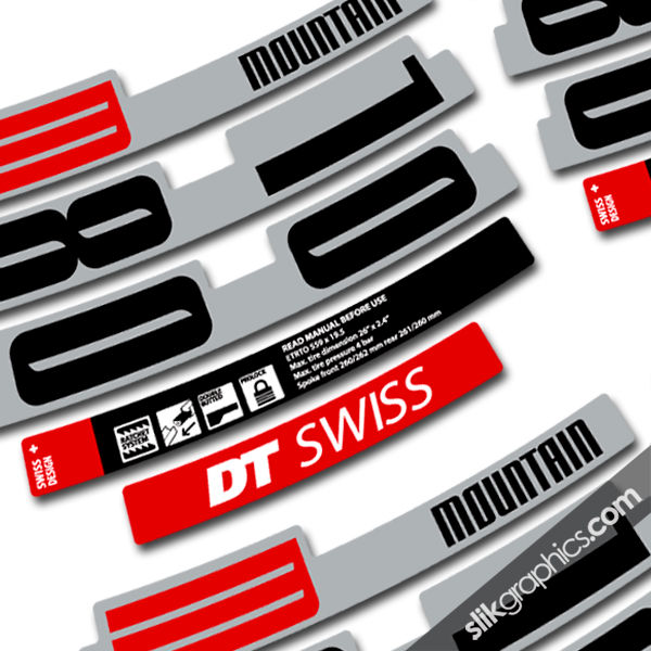 DT Swiss M1800 Style Decal Kit - product images  of