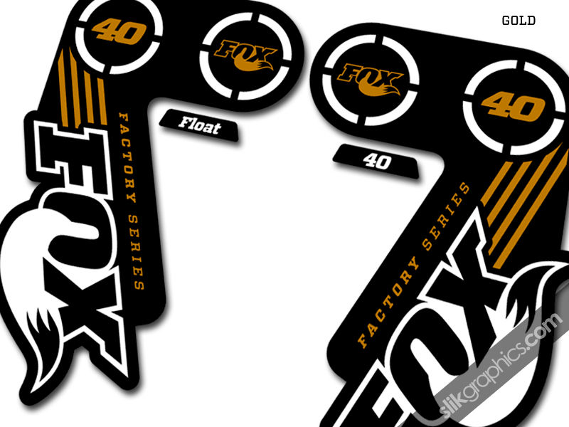 Fox 40 2014 Factory Style Decal Kit - Black Forks - product images  of