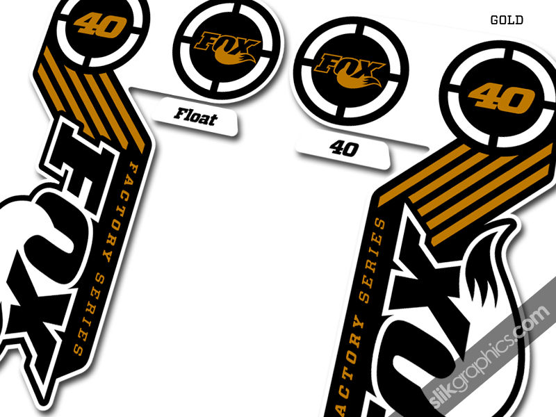 Fox 40 2014 Team Issue Decal Kit - White Forks - product images  of