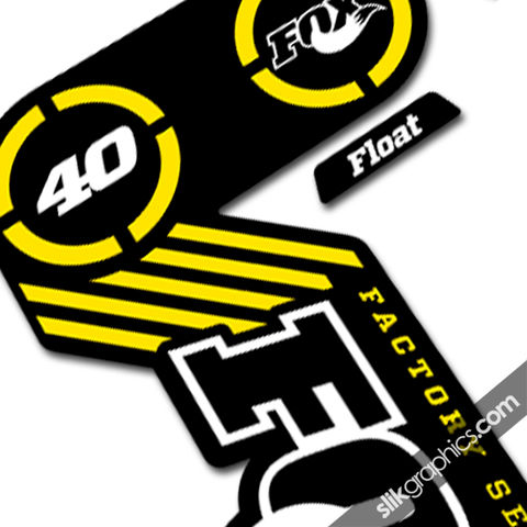 Fox,40,2014,Team,Issue,Decal,Kit,-,Black,Forks,Fox 40, 2014, float, fork decals, stickers, factory, team