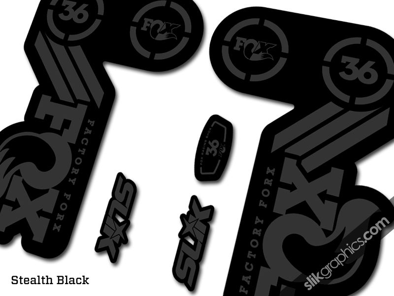 Fox 36 Heritage Style Decal Kit - Black Forks - product images  of