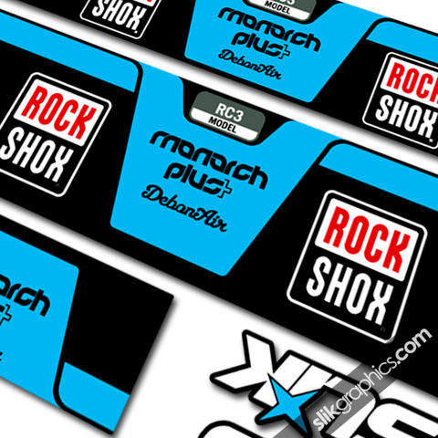 RockShox,Monarch,Plus,DebonAir,Style,Shock,Decal,Rockshox, Monarch Plus, DebonAir, shock decals, decals, stickers