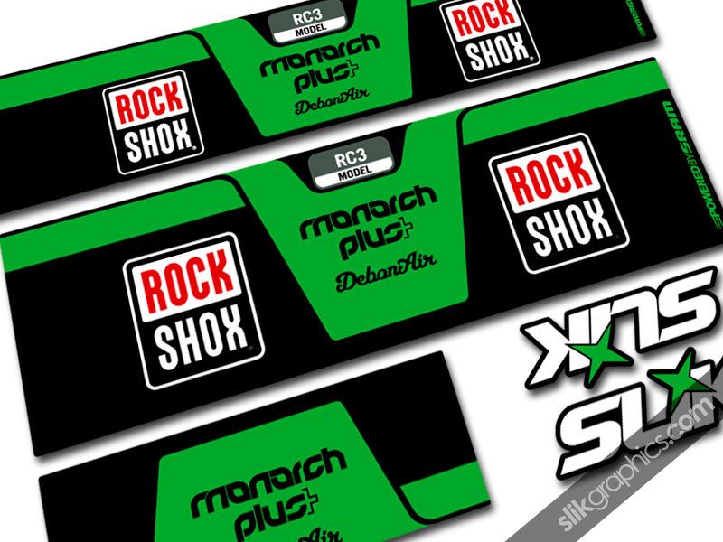 RockShox Monarch Plus DebonAir Style Shock Decal - product images  of